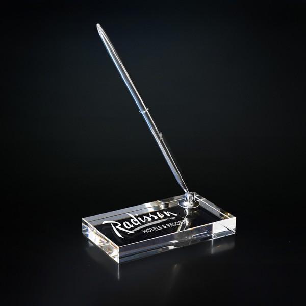 Stiklinis stovas su rašikliu - STR