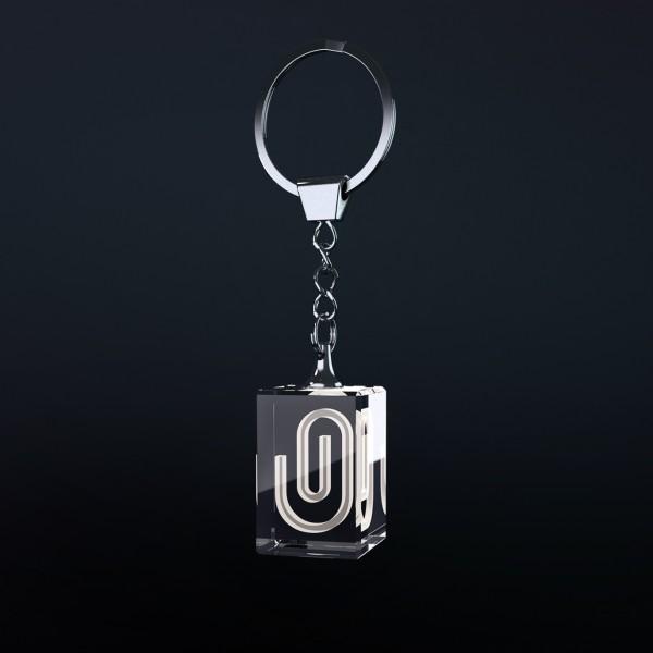 Stiklinis raktų pakabukas – Stačiakampis