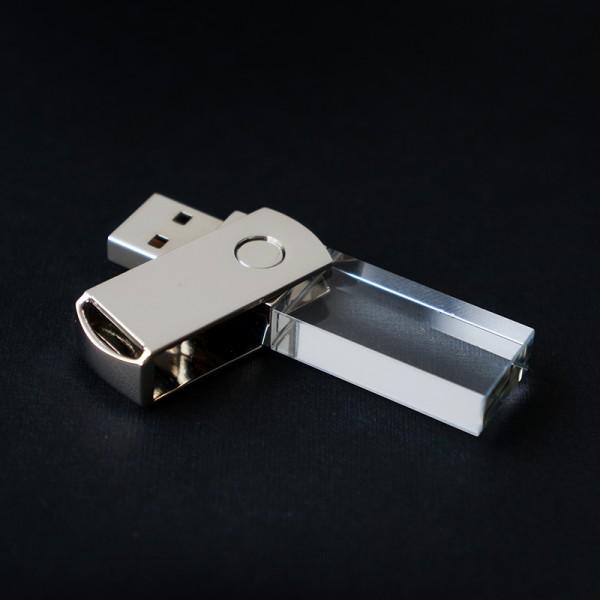 Stiklinė USB laikmena 02/16 GB